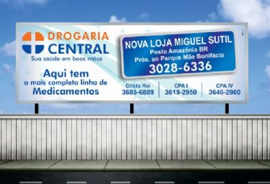 Drogaria Central - Outdoor Loja Miguel Sutil